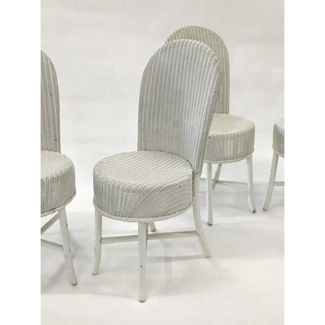 1950s Woven Lloyd Loom Chairs — Set of 4 For Sale - Image 10 of 12