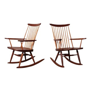Pair of Rocking Chairs by George Nakashima, 1975 For Sale