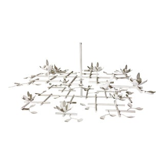 Garden Plaster Chandelier by Apsara Interiors For Sale