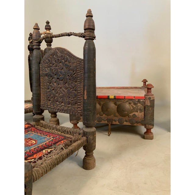 19th Century Tribal Bedouin Chairs - Set of 4 For Sale - Image 11 of 12