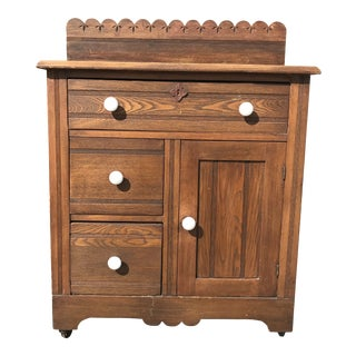 Antique Oak Cabinet For Sale