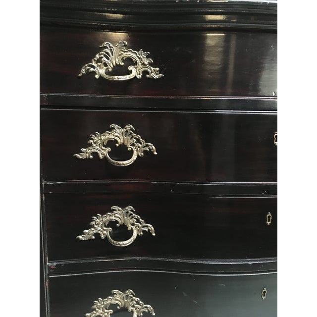 Wood Vintage Continental Serpentine Chest of Drawers For Sale - Image 7 of 10