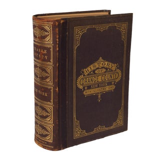 Late 19th Century Antique Everts & Peck History of Orange County, New York Book For Sale