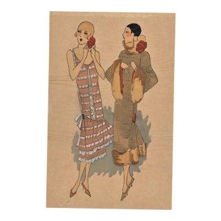 Art Deco Fashion Pochoir