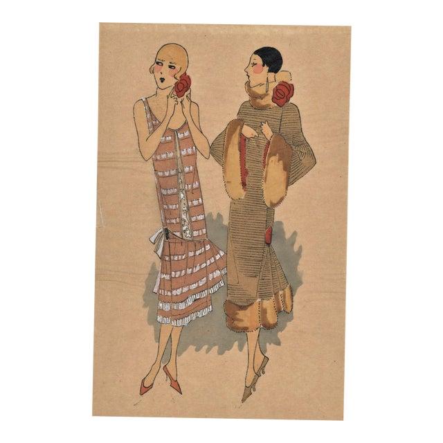 Art Deco Fashion Pochoir - Image 1 of 5