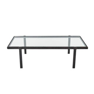 Modernist Hand Forged Metal Coffee Table For Sale