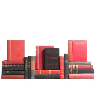 Red & Black American History Books - Set of 20