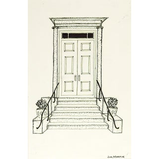 Small Drawing of Architectural Entrance For Sale