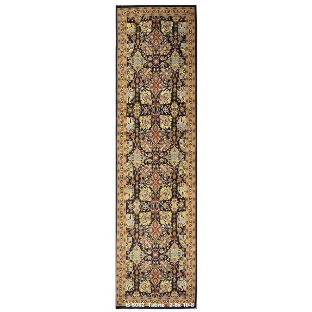 Vintage Persian Tabriz Rug - 2'6'' x 10'8'' - Image 1 of 2