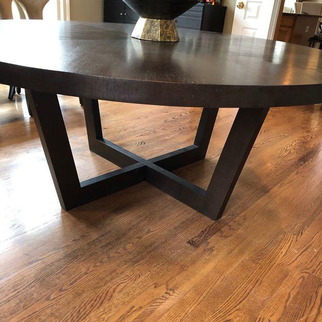 Wood Italian 72 Inch Round Dining Table For Sale - Image 7 of 13