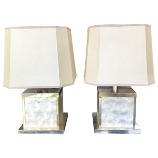 Mother of Pearl Lamps, Italy, 1960 For Sale