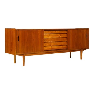 1960s Danish Modern Nils Jonsson for Hugo Toeds Teak Credenza For Sale