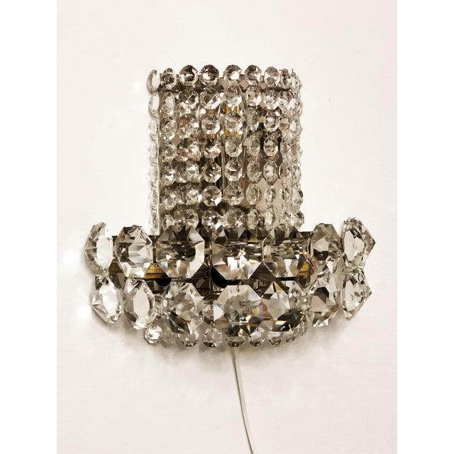Pair of Large Crystal Sconces by Bakalowits and Sohne For Sale - Image 13 of 13
