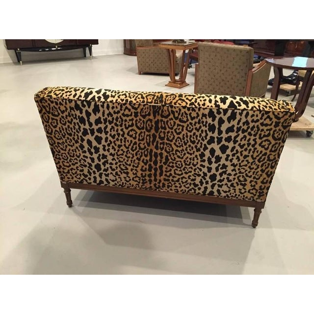 Wood Mid-Century Leopard Print Sofa For Sale - Image 7 of 10