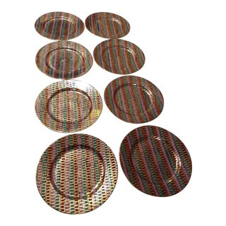 """Fitz and Floyd """"Fil D'Or"""" Dessert Plates - Set of 8 For Sale"""