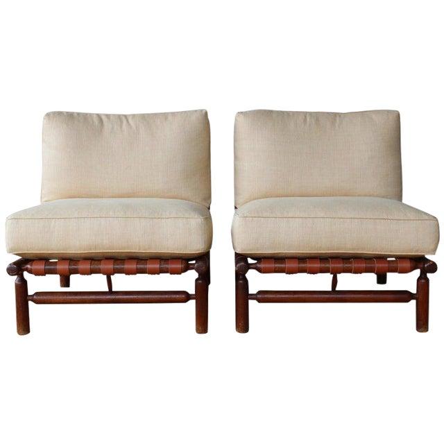 Ilmari Tapiovaara Walnut Lounge Chairs, Italy, 1957 - a Pair For Sale