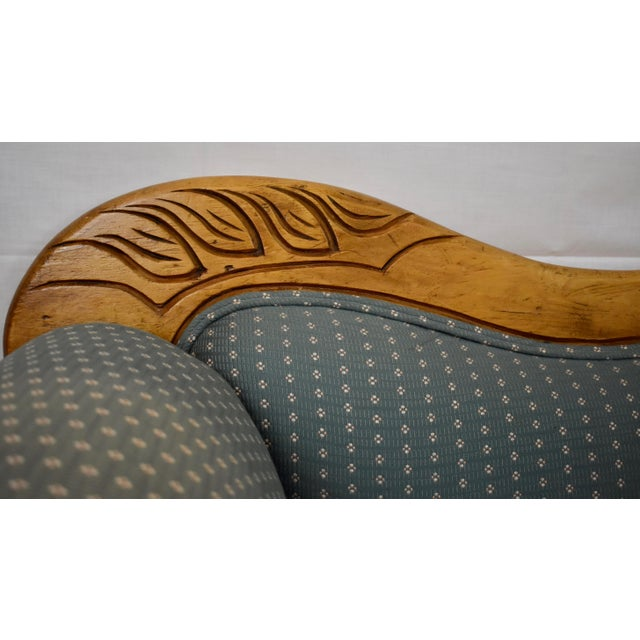 Late 19th Century Late 19th Century Irish Pine Camelback Settee For Sale - Image 5 of 13