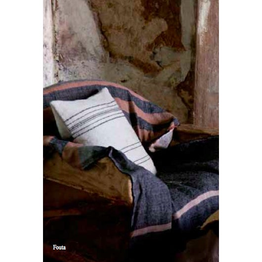 2010s Belgian Black Stripe Towel For Sale - Image 5 of 10