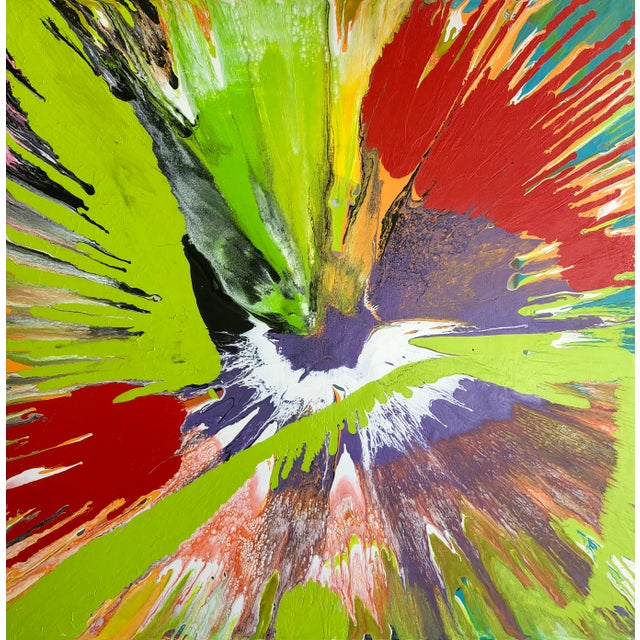 """Contemporary Abstract Painting """"Lip Balm"""" by Misty Wilson For Sale In West Palm - Image 6 of 6"""