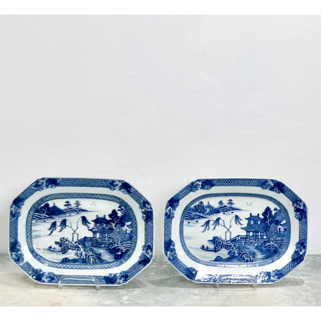 18th Century 18th Century Chinese Octagonal Platters- A Pair For Sale - Image 5 of 5