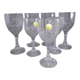 Bretagne by Cristal d'Arques-Durand Wine Glasses - 7 Pieces For Sale