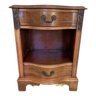 1960s Traditional Nightstand with Shelf For Sale