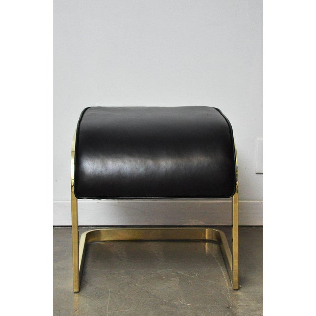 Metal Brass and Leather Stools by DIA For Sale - Image 7 of 10