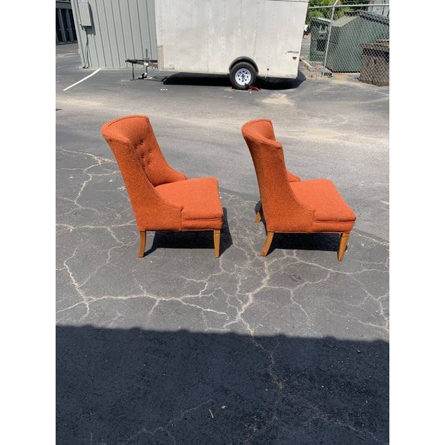 Mid 20th Century Vintage Mid Century Tweed Lounge Chairs- a Pair For Sale - Image 5 of 6