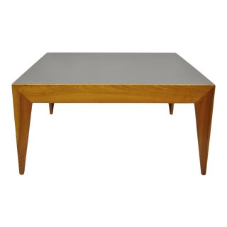 Late 20th Century Italian Style Modern Cherry Square Coffee Table For Sale