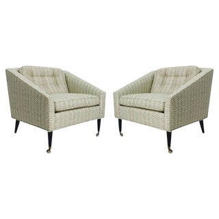 Pair of Milo Baughman for James Inc. Armchairs For Sale