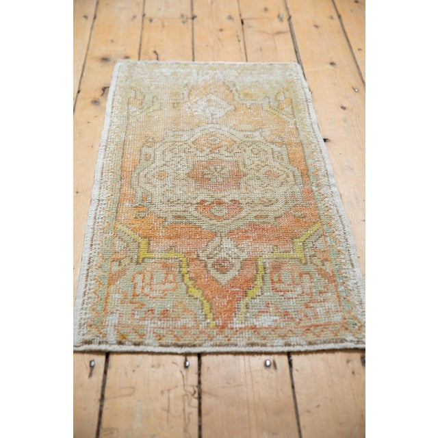 "Vintage Distressed Oushak Rug Mat - 1'7"" X 3'1"" For Sale In New York - Image 6 of 7"