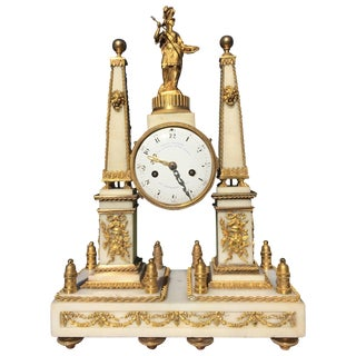 Mantel Clock Louis XVI Period by Charles Bertrand For Sale