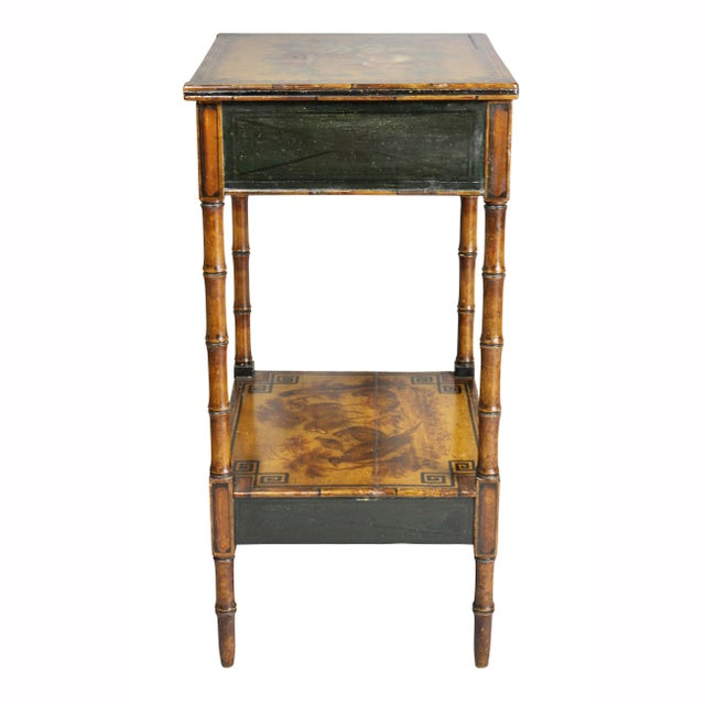 Regency Stencilled and Painted Side Table For Sale - Image 10 of 13