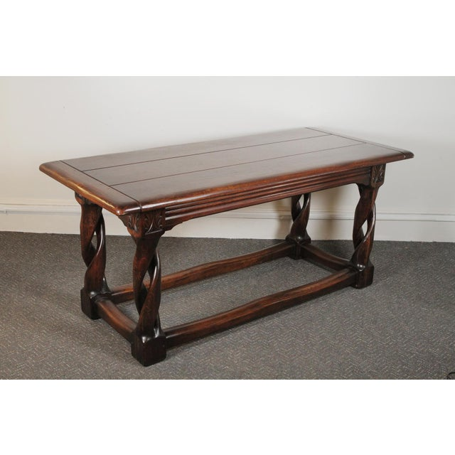1900s Gothic Oak Console Table For Sale - Image 13 of 13