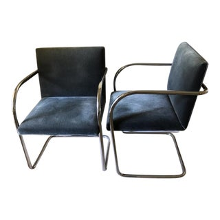 Vintage Knoll Bruno Chairs - a Pair For Sale