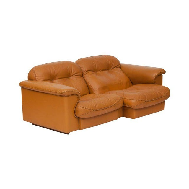 Leather Adjustable Ds 101 Sofa in Brown Leather by De Sede For Sale - Image 7 of 11