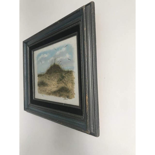 Canvas Vintage Dunes on the Cape Oil Painting For Sale - Image 7 of 10