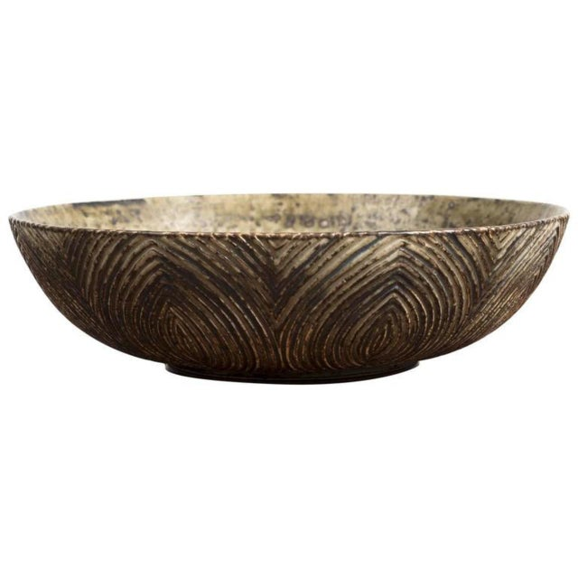 Large Bowl with Sung Glaze by Axel Salto for Royal Copenhagen For Sale - Image 10 of 10