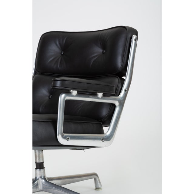 Black Leather Time Life Lobby Chair by Ray and Charles Eames for Herman Miller For Sale - Image 10 of 13