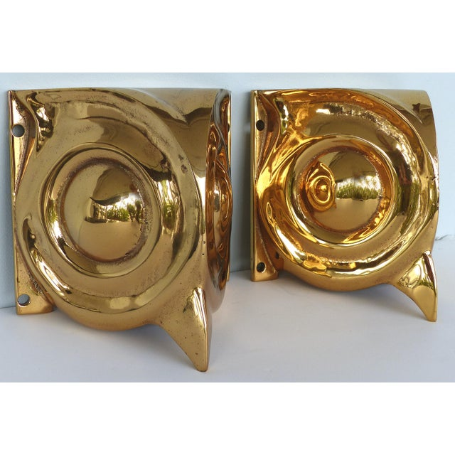 1930s French Art Deco Gilt Bronze Owl Sconces - a Pair For Sale - Image 4 of 12