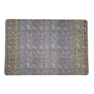 Nicolette Mayer Iznik Gold Purple 17 Rectangle Pebble Placemats, Set of 4 For Sale
