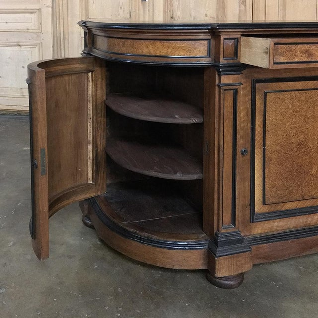 Walnut 19th Century French Napoleon III Period Walnut Buffet For Sale - Image 7 of 13