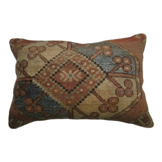 Rustic Afghan Antique Pillow, 13''x 19'' For Sale