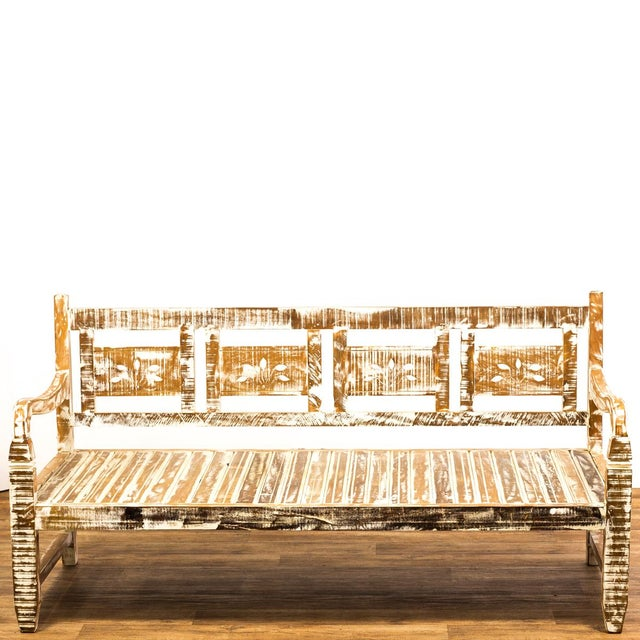 Our amazing provincial style daybed is made of reclaimed peroba wood which is a very durable and rot resistant material....