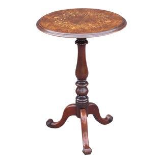 French Walnut Pedestal Wine Table
