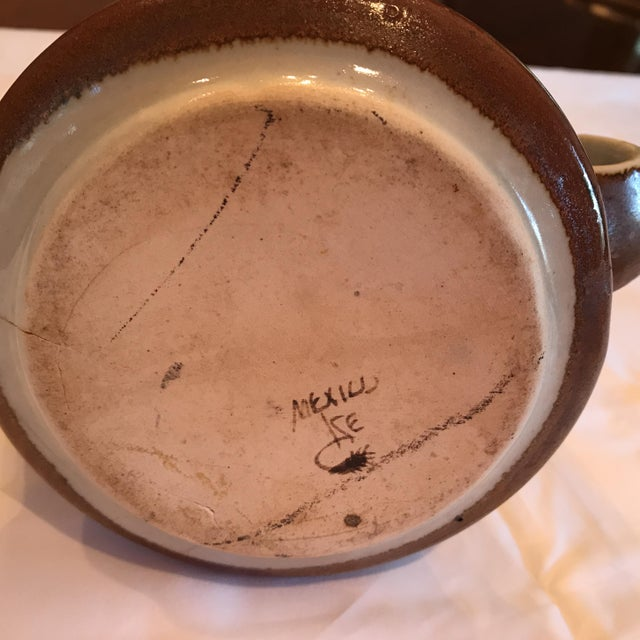 Mexican Vintage Ceramic Pitcher - Image 5 of 5