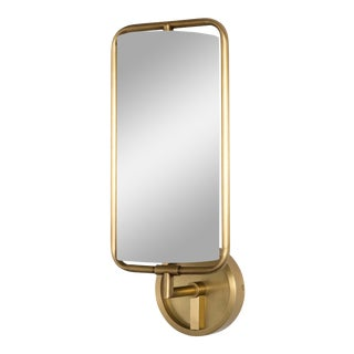 Geo Rectangle Sconce (Natural Brass) For Sale