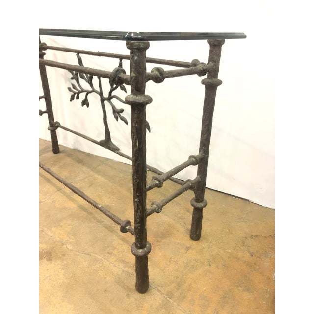 Mid 20th Century Giacometti Style Studio Made Console Table For Sale - Image 5 of 7