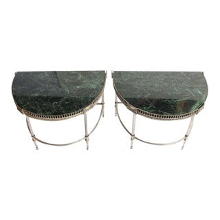Jansen Style Demilune Tables - A Pair For Sale