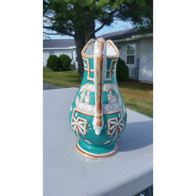 Amazing 19th C. Chinese Export Pitcher in Tiffany Blue - for the English Market For Sale - Image 4 of 7